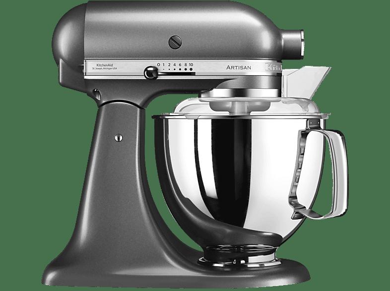 KITCHENAID 5KSM175PSEMS Küchenmaschine Medallion Silber Rührschüsselkapazität 4,8 Liter, 300 Watt
