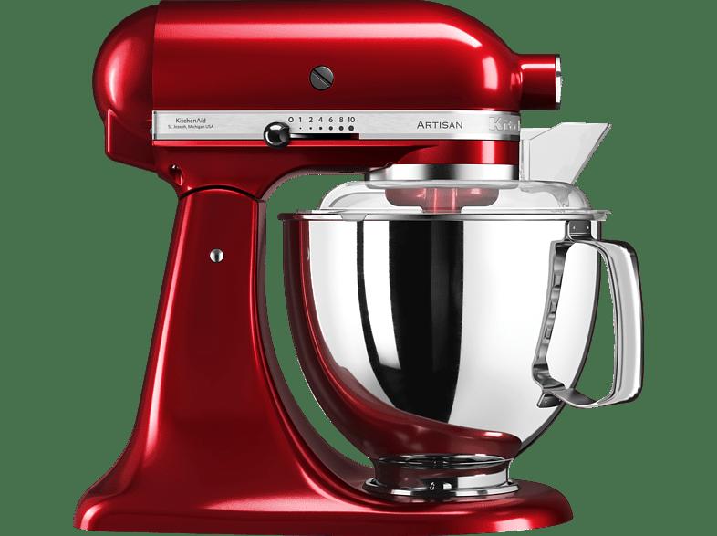 KITCHENAID 5KSM175PSECA ARTISAN LIEBESAPFELROT Küchenmaschine Liebesapfelrot Rührschüsselkapazität 4,8 Liter, 300 Watt