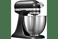 KITCHENAID 5KSM3311XEBM Mini Mini-Küchenmaschine Schwarz Matt (Rührschüsselkapazität: 3,3 Liter, 250 Watt)