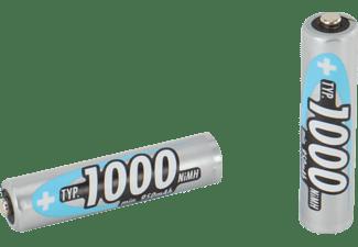 ANSMANN 5030892 AAA Micro Akku, Ni-MH, 1.2 Volt, 1000 mAh 2 Stück