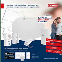 ABUS Smartvest FUAA35200A Wohnung Funk-Alarmanlagen-Set, Weiß