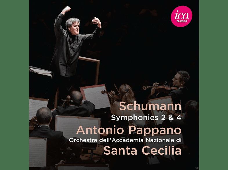 Pappano, Orch.dell'Accad.Nazion.di Santa Cecilia - Sinfonien 2+4 [CD]