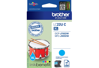 BROTHER Original Tintenpatrone Cyan (LC-22UC)