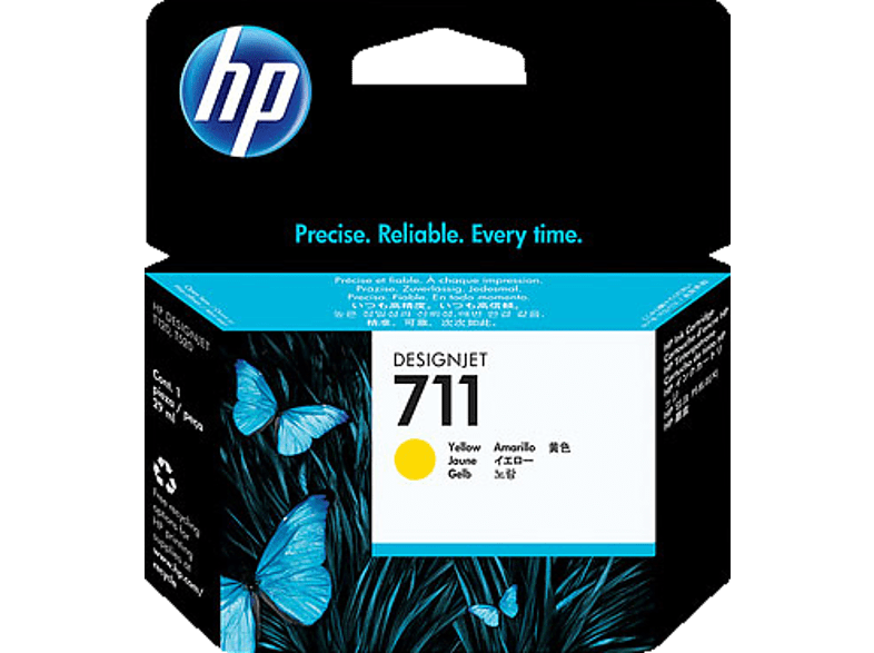 HP 711 DesignJet Tintenpatrone, 29 ml Tintenstrahl Gelb