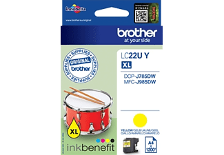 BROTHER Original Tintenpatrone Gelb (LC-22UY)