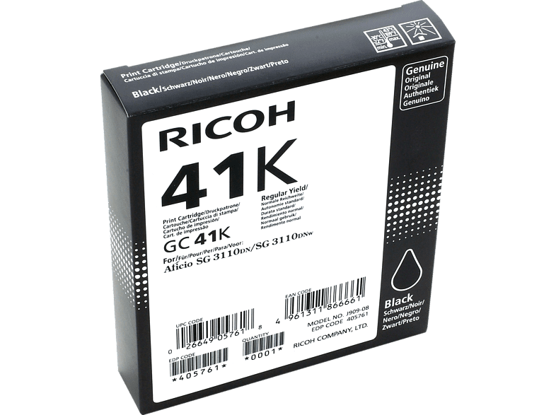 RICOH GC41K Tintenpatrone Schwarz (405761)