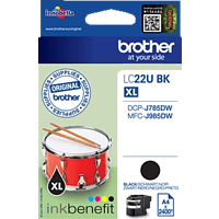 BROTHER Original Tintenpatrone Schwarz (LC-22UBK)
