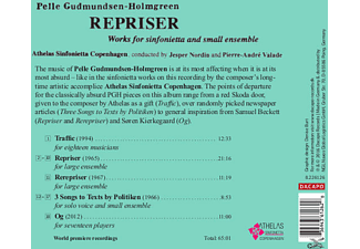 Athelas Sinfonietta Copenhagen, Ken Nordine, Pierre-andré Valade - Repriser  - (CD)