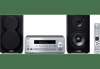 YAMAHA Kompaktanlage MusicCast MCR-N470D, mit DAB+, WiFi, Air Play, silber
