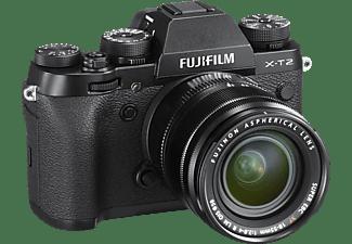 FUJIFILM X-T2 Systemkamera 24.3 Megapixel mit Objektiv 18-55 mm F2.8-4, 7,6 cm Display, WLAN