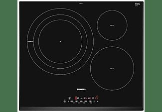 Encimera - iemens EH651FDC1E iQ300, Inducción, 3 zonas, 32 cm., Marco biselado, Negro