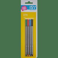 ISY IOE-1042 4 Fineliner in verschiedenen Farben