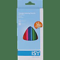 ISY IOE-1011 Buntstifte in 12 Farben