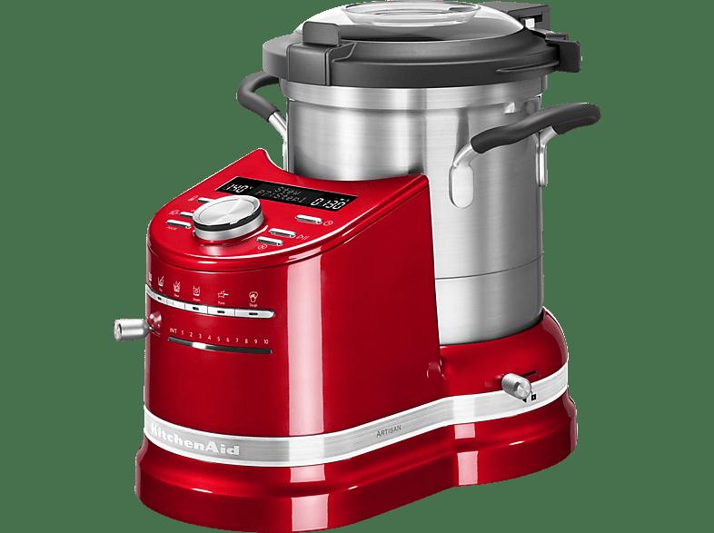 KITCHENAID 5KCF0104EER Küchenmaschine mit Kochfunktion, Empire Red/Silber