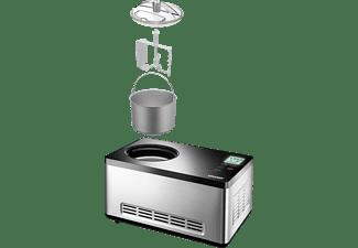 UNOLD 48845 Gusto Eismaschine (180 Watt, Edelstahl/Schwarz)