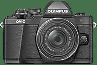 OLYMPUS OM-D E-M10 Mark II  Systemkamera 16.1 Megapixel mit Objektiv 14-42 mm f/3.5-5.6, 7,6 cm Display Touchscreen, WLAN