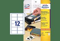 AVERY ZWECKFORM L4742REV-25 Etiketten für VHS-Videokassetten 78,7 x 46,6 mm 78,7 x 46,6 mm A4  300 Etiketten / 25 Bogen
