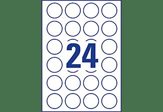 AVERY ZWECKFORM L3415-100 Runde Etiketten Ø 40 mm Ø 40 mm A4  2.400 Etiketten / 100 Bogen