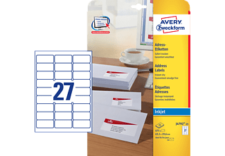 AVERY ZWECKFORM J4792-25 LABEL 63.5X29.6MM INK 675PCS - Etikettenpapier (Weiss)