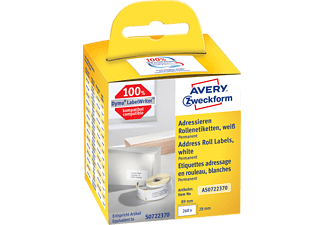 AVERY ZWECKFORM AS0722370 ROLLENETIKETTEN ADRESSIE 89X28MM 2X130ST