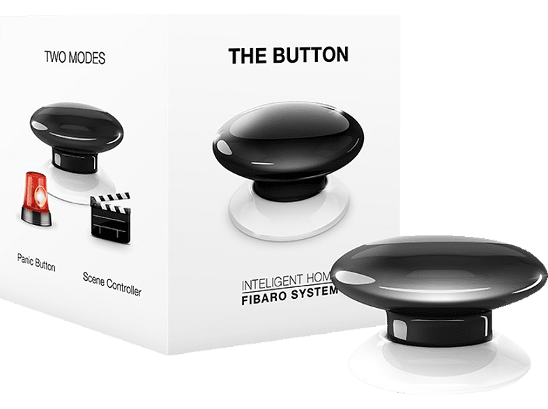 FIBARO FIBEFGPB-101-2 The Button Taster, Schwarz