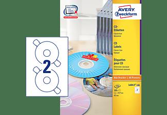 AVERY ZWECKFORM L6043-100 CD-Etiketten Ø 117 mm Ø 117 mm A4  200 Etiketten / 100 Bogen