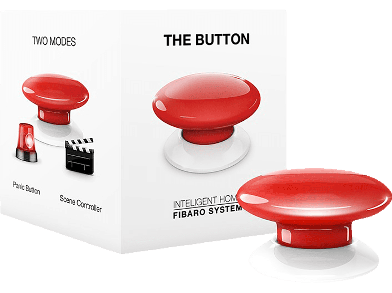 FIBARO FIBEFGPB-101-3 The Button Taster, Rot