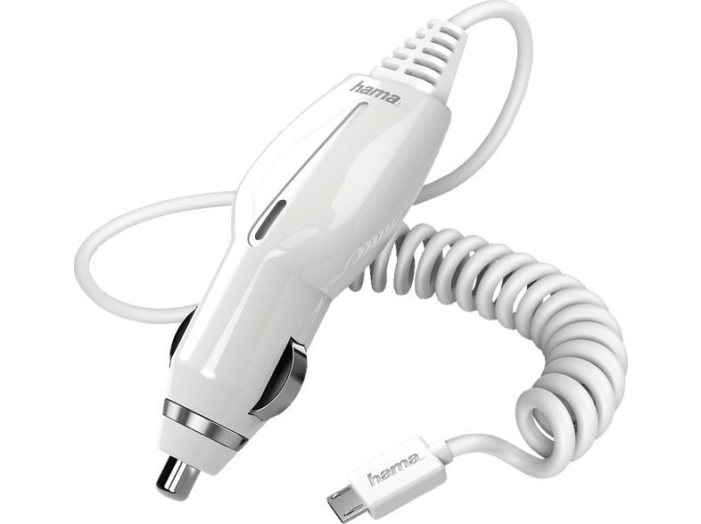 HAMA Micro-USB KFZ-Ladegerät, Weiß