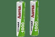 HAMA 2er Pack AAA Micro 1000 mAh