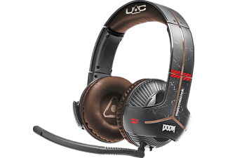 THRUSTMASTER Y-350X Doom Edition (Xbox One / PC) 7.1 , Over-ear Gaming Headset Schwarz/Rot