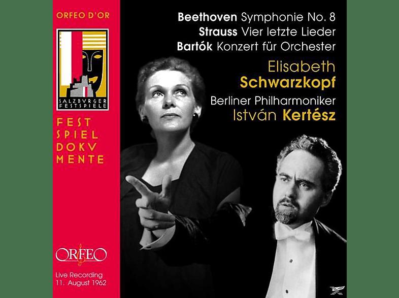 Elisabeth Schwarzkopf, Istvan Kertesz, Berliner Philharmoniker - Vier Letzte Lieder,Knozert Für Orchester,Symphonie No. 8 [CD]