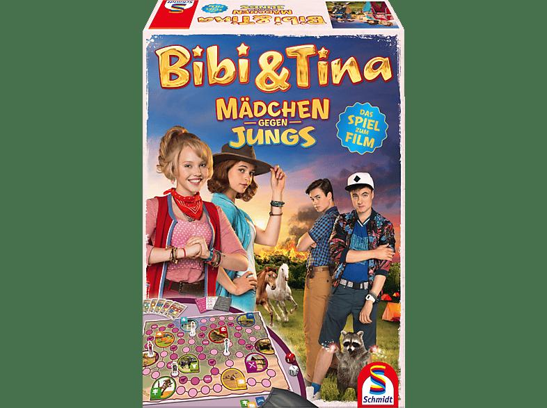 """SCHMIDT SPIELE (UE) Bibi und Tina: """"Mädchen gegen Jungs"""" - Das Spiel zum Film Gesellschaftsspiel, Mehrfarbig"""