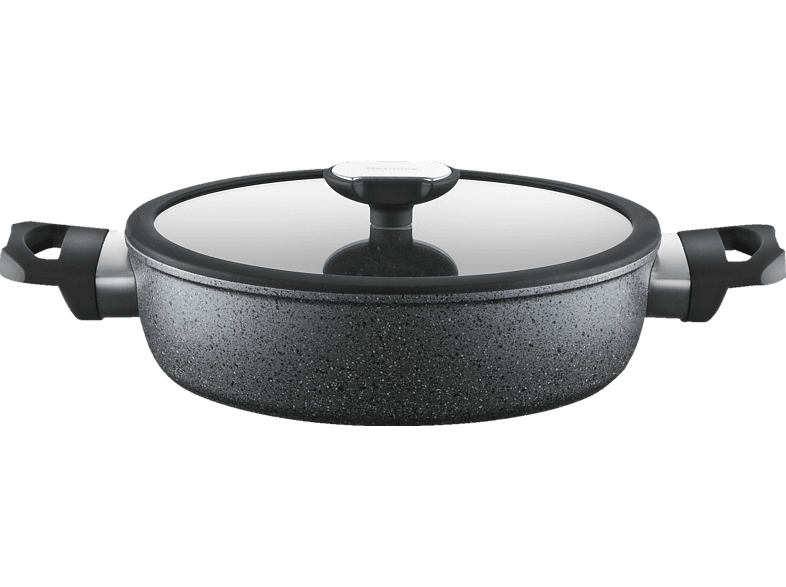 BERNDES 021278 Schmorkasserolle (geschmiedetes Aluminium in Guss Optik)