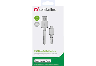 CELLULAR LINE 37714, Lightning auf USB Kabel, 0,6 m, Weiß