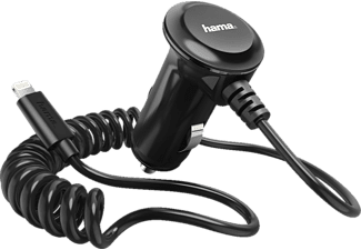 HAMA Lightning KFZ-Ladegerät Apple, Schwarz