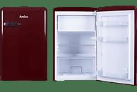 AMICA KS 15611 R Kühlschrank (133 kWh/Jahr, A++, 860 mm hoch, Weinrot)