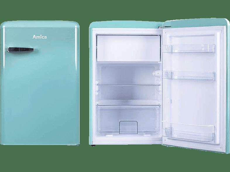 AMICA KS 15612 T Kühlschrank E, 860 mm hoch, Blau