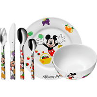 WMF 12.8295.9964 Mickey Mouse 6-tlg. Kinderbesteck-Set