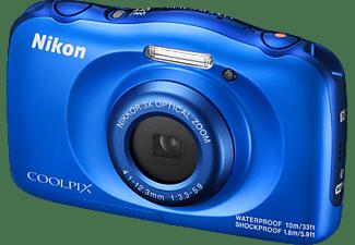 NIKON Coolpix W100 Digitalkamera Blau, 3x opt. Zoom