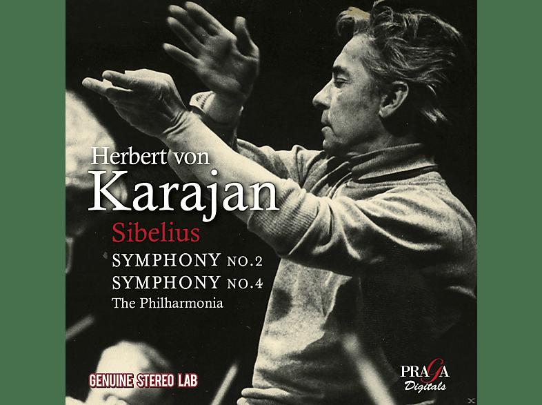 Herbert von Karajan, The Philharmonia Orchestra - Sinfonien 2 & 4 [CD]