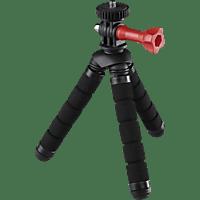 HAMA Flex 2in1 Dreibein Mini-Stativ, Schwarz, Höhe offen bis 140 mm
