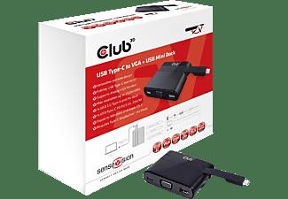CLUB-3D Videoadapter SenseVision USB Typ-C auf VGA + USB 3.0 + USB Typ-C Charging Mini Dock