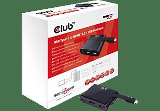 CLUB-3D Videoadapter SenseVision USB Typ-C auf HDMI 2.0 + USB 2.0 + USB Typ-C Charging Dock