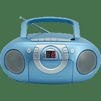 SOUNDMASTER SCD51000 mit Kassettendeck Radiorecorder Blau