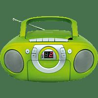 SOUNDMASTER SCD5100 mit Kassettendeck Radiorecorder (Grün)