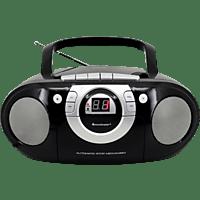 SOUNDMASTER SCD5100 mit Kassettendeck Radiorecorder (Schwarz)
