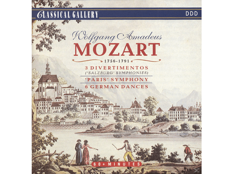 Wolfgang Amadeus Mozart - 3 Divertimentos/Paris Symphony /6 German Dances [CD]