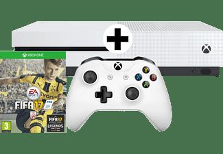 MICROSOFT XBox One S Bundle 500GB weiß inkl FIFA 17 (Download-Code)