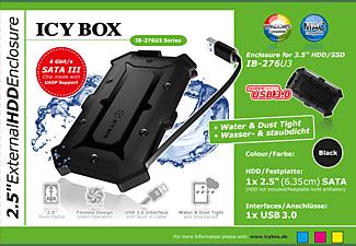 RAIDSONIC ICY BOX IB-276U3 wasserfestes Festplattengehäuse, extern, Schwarz