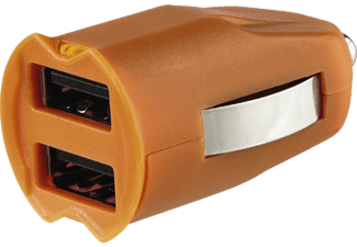 HAMA 2-fach-USB-KFZ Ladeadapter, Blau/Grün/Orange/Schwarz/Weiß